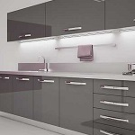 Small image of the Bakis acrylic anthracite MDF decor
