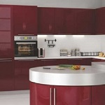 Small image of the Bakis acrylic bordeaux MDF decor