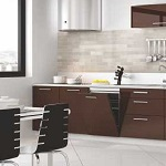 Small image of the Bakis acrylic Brown MDF decor