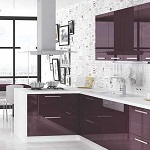 Small image of the Bakis acrylic purple MDF decor