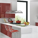 Small image of the Bakis acrylic red MDF decor